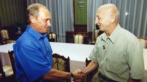 Kreml-Chef Wladimir Putin (l.), Filmemacher Igor Schadchan VOX/Spiegel TV