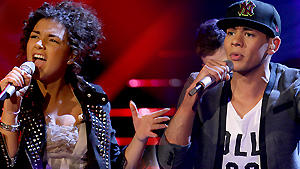 X Factor 2011 Monique Simon Kassim Auale
