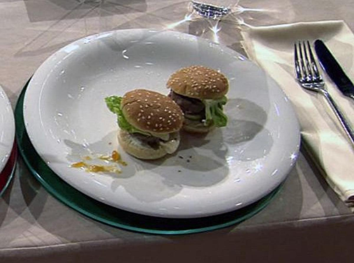 Mini-Hamburger &agrave; la Henssler, gekocht von Steffen Henssler
